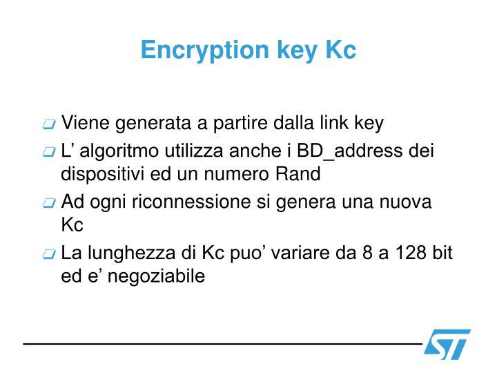 Encryption key Kc
