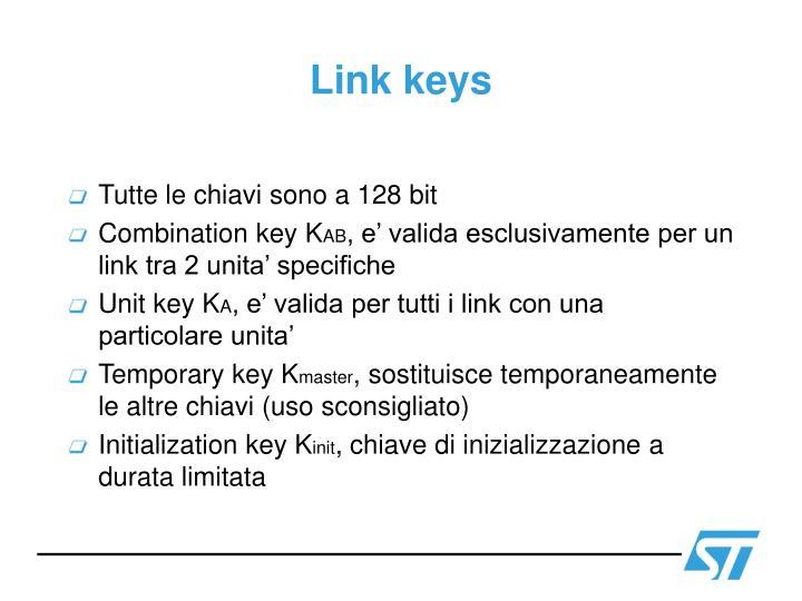Link keys