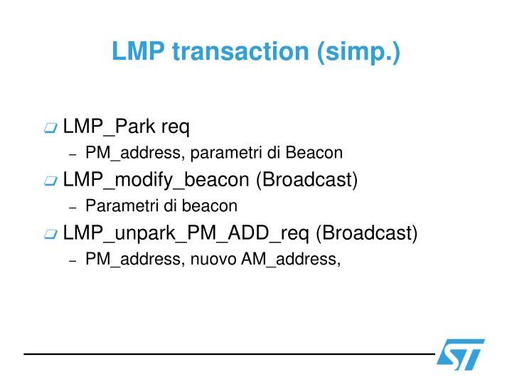 LMP transaction (simp.)