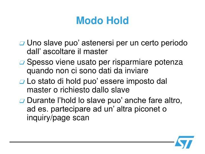 Modo Hold