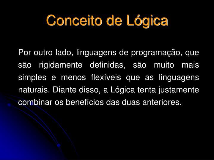 Conceito de Lógica