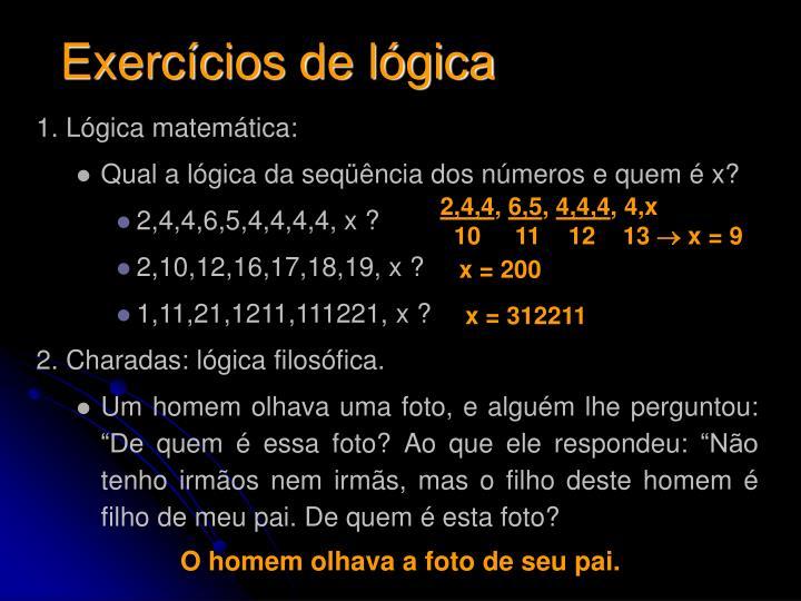Exercícios de lógica