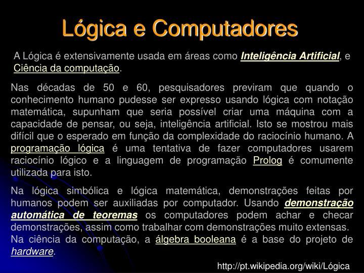 Lógica e Computadores