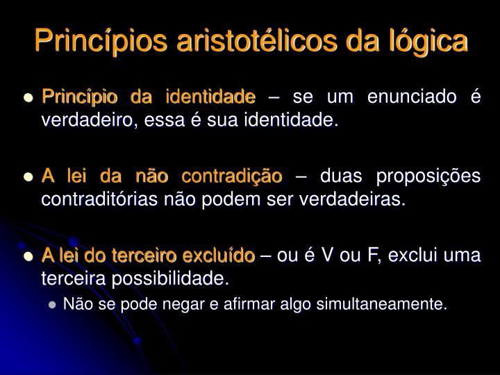 Princípios aristotélicos da lógica