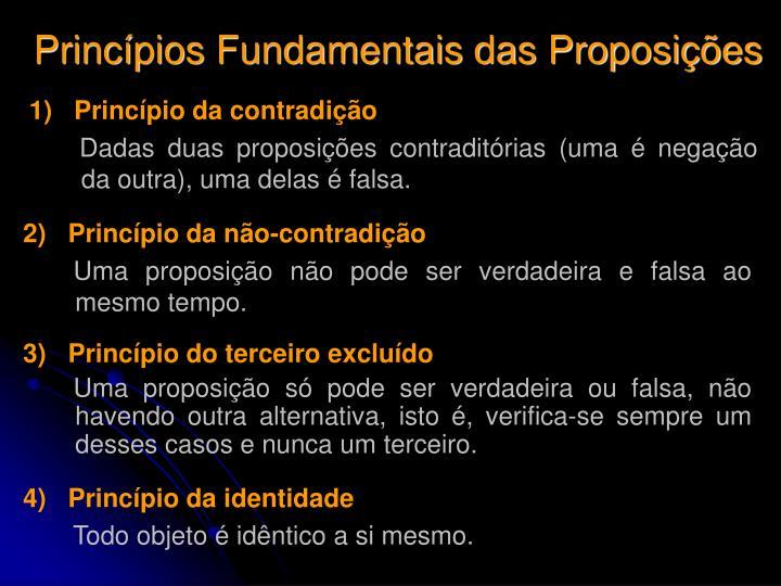 Princípios Fundamentais das Proposições