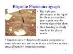 rhyolite photomicrograph
