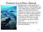 trachyte lava flow hawaii