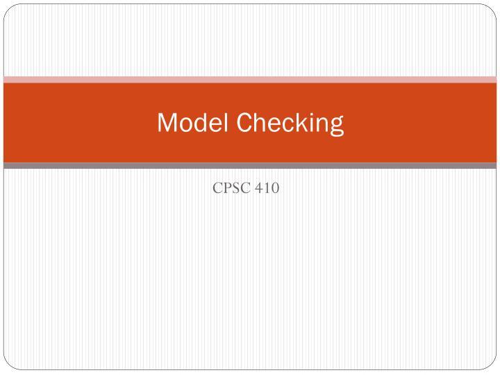 model checking n.
