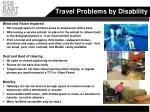 travel problems by disability