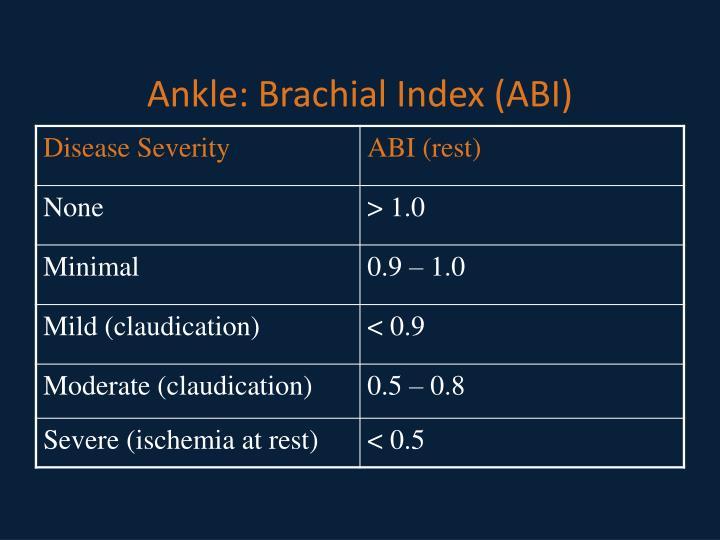 Ankle: Brachial Index (ABI)