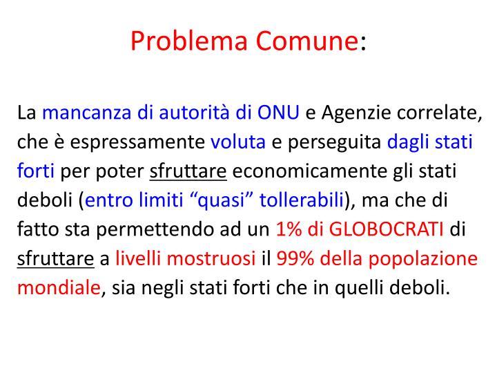 Problema Comune