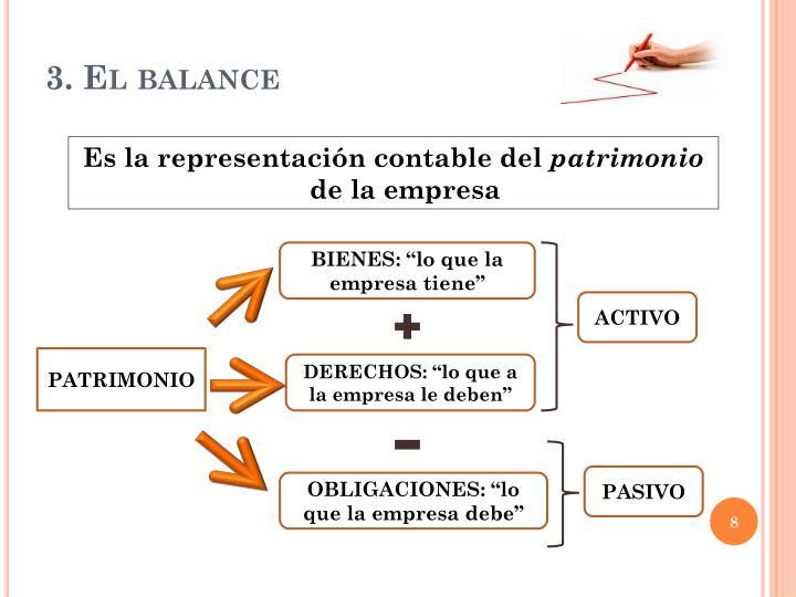 3. El balance