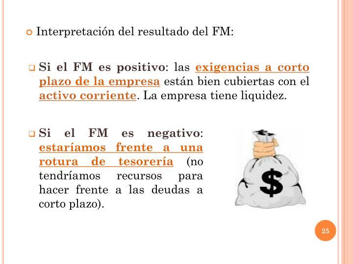 Si el FM es positivo