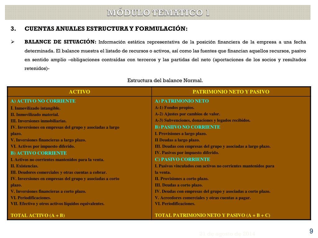 Ppt Análisis De Estados Financieros Curso 2011 2012