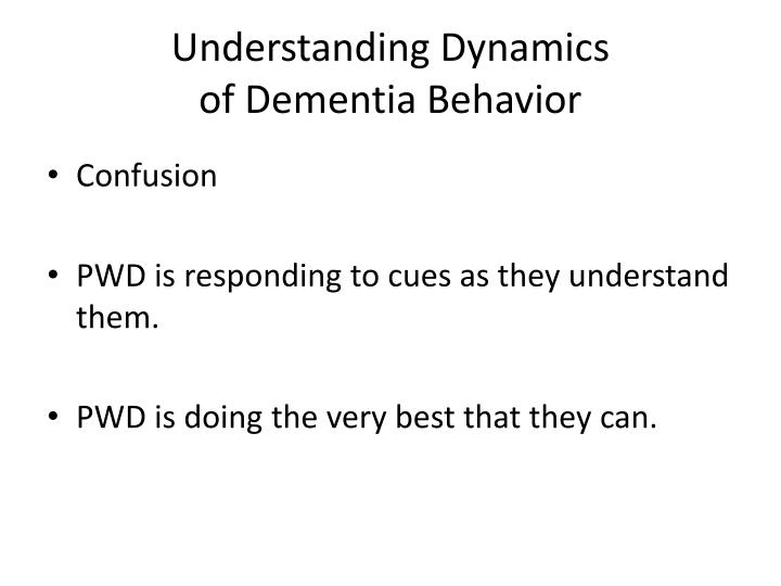 Understanding Dynamics