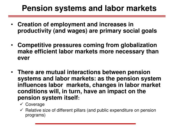 Pension systems and labor markets