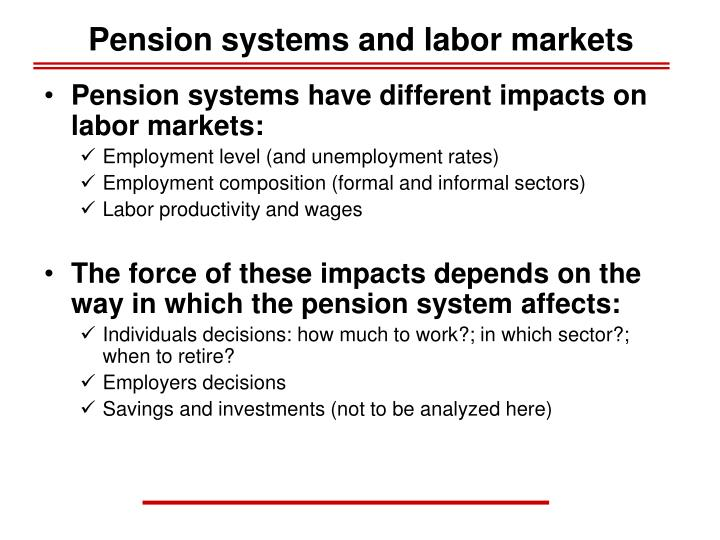 Pension systems and labor markets1
