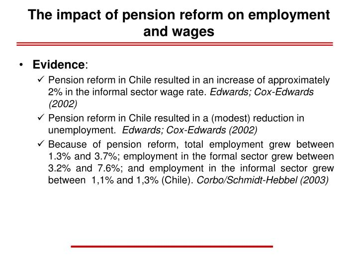 The impact of pension reform on employment and wages