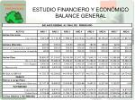 estudio financiero y econ mico balance general