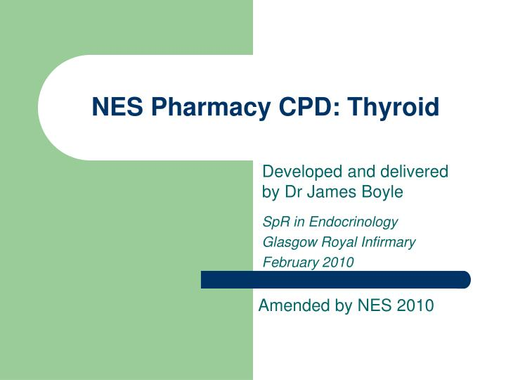 nes pharmacy cpd thyroid n.