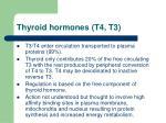 thyroid hormones t4 t3