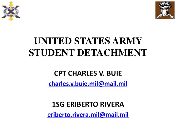 united states army student detachment n.
