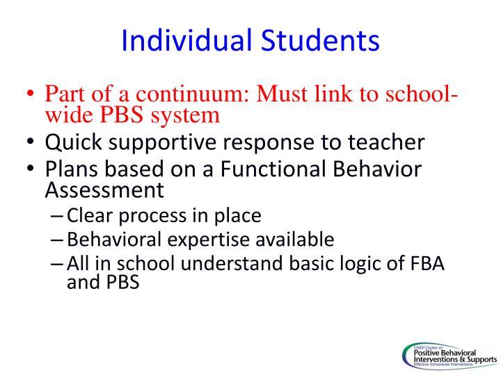 Individual Students
