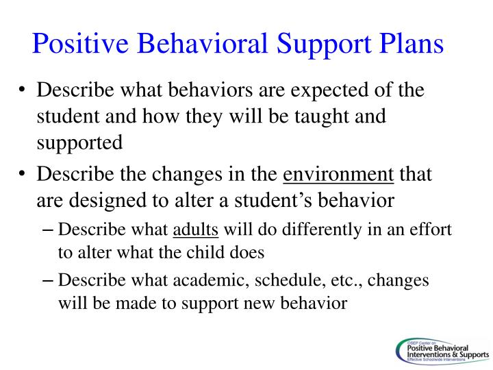 Positive Behavioral Support Plans