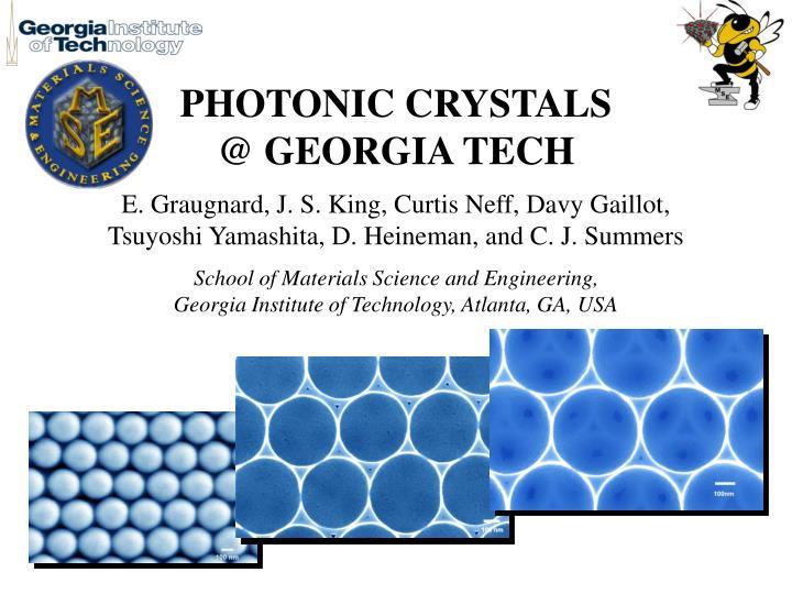 Photonic crystals @ georgia tech