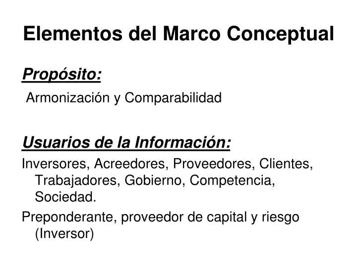 Elementos del Marco Conceptual