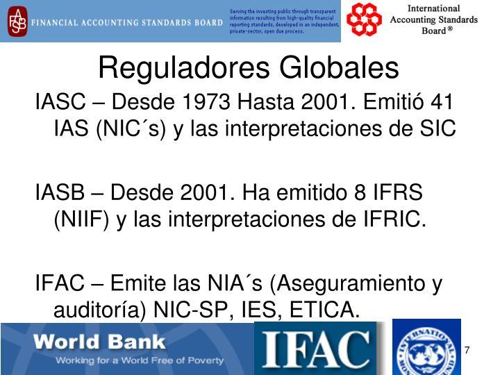 Reguladores Globales