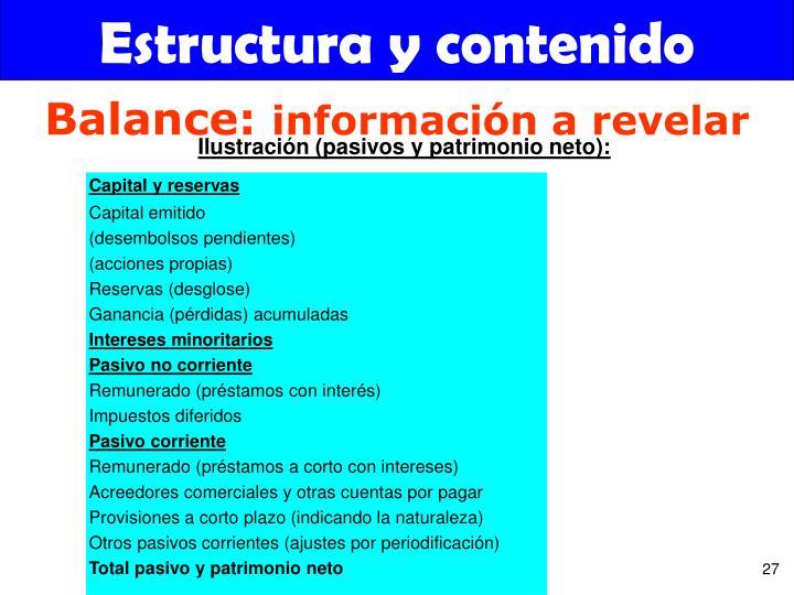 Estructura y contenido