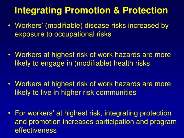 Integrating Promotion & Protection