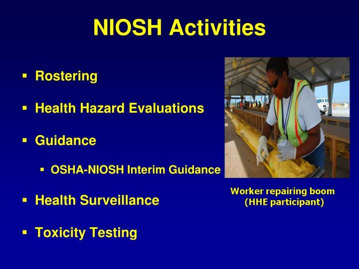 NIOSH Activities