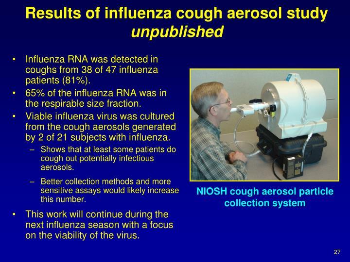 Results of influenza cough aerosol study