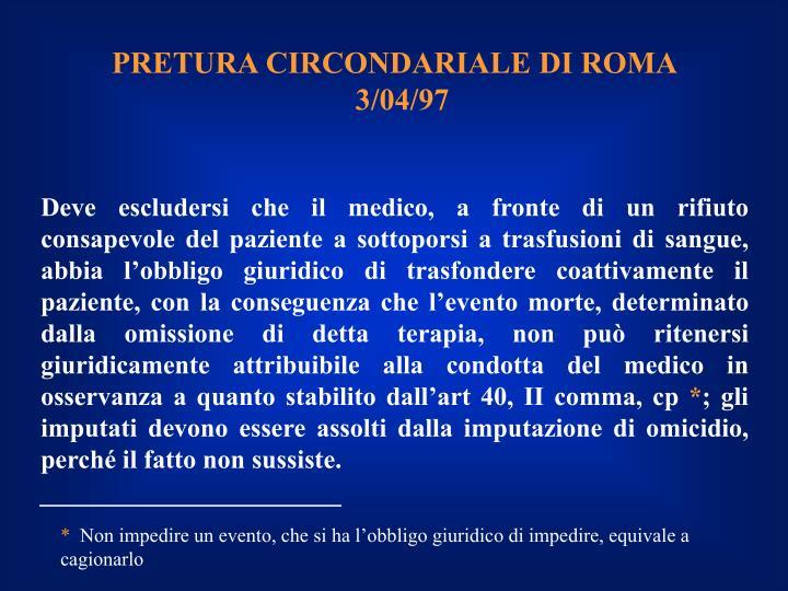 PRETURA CIRCONDARIALE DI ROMA