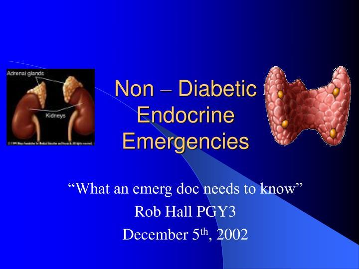 non diabetic endocrine emergencies n.