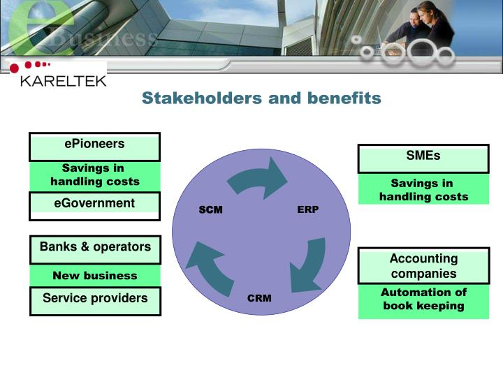 Stakeholders and benefits