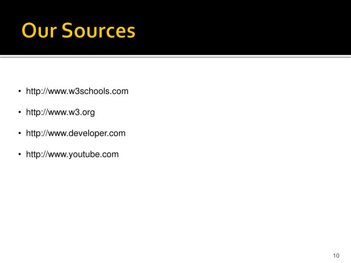 Our Sources