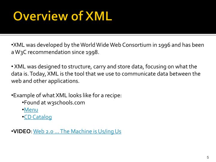 Overview of XML