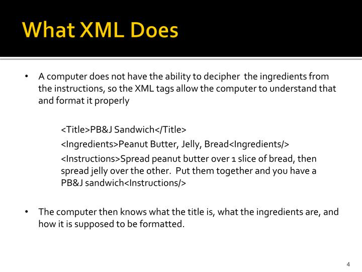 What XML Does