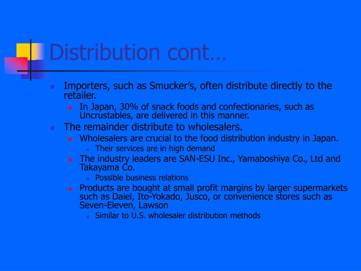 Distribution cont…