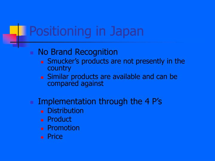 Positioning in Japan