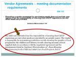 vendor agreements meeting documentation requirements gm 13c