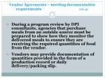 vendor agreements meeting documentation requirements gm 13c1
