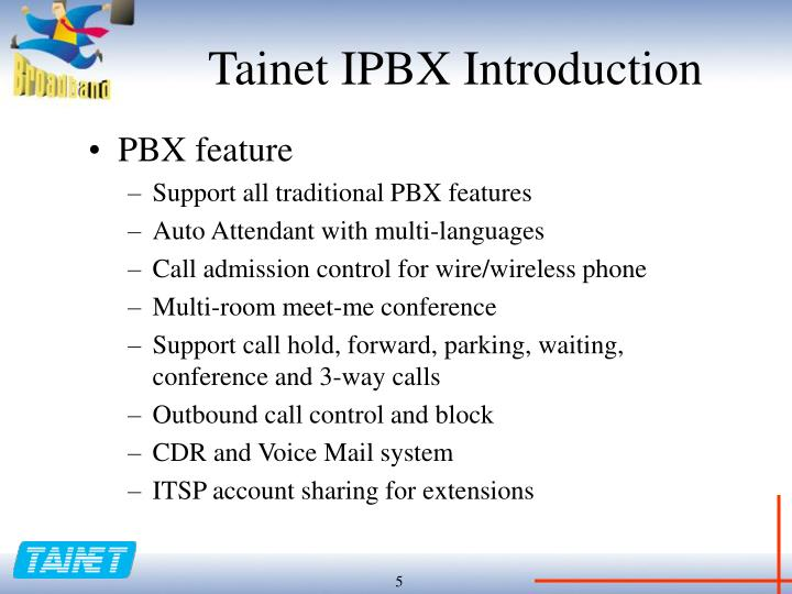 Tainet IPBX Introduction