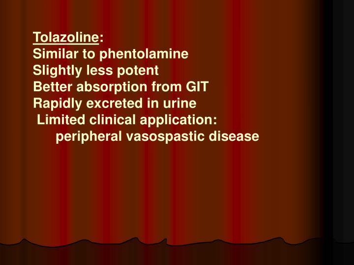 Tolazoline