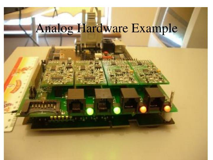 Analog Hardware Example
