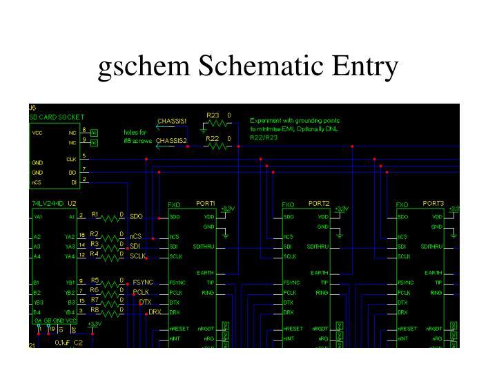 gschem Schematic Entry