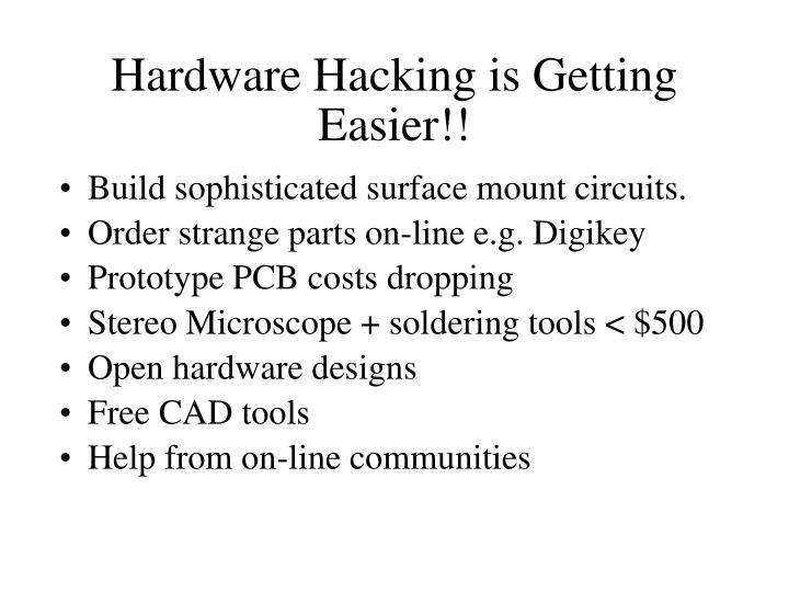 Hardware Hacking is Getting Easier!!